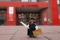 Luther-Figur vor Sparkasse Foto Johannes Hoffmann