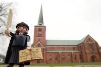 MARTINtage Lutherfigur vor der Marienkirche- Foto: Johannes Hoffmann