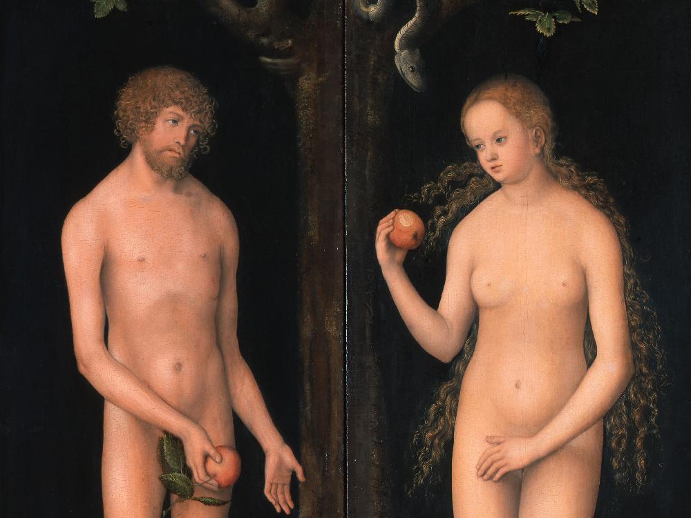 Foto des Bildes Adam und Eva von Lucas Cranach d.Ä. aus Wikipedia