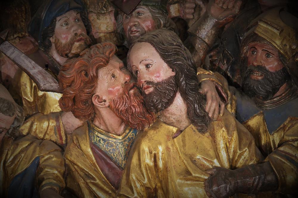 Ausschnitt aus dem Altar der Marienkirche