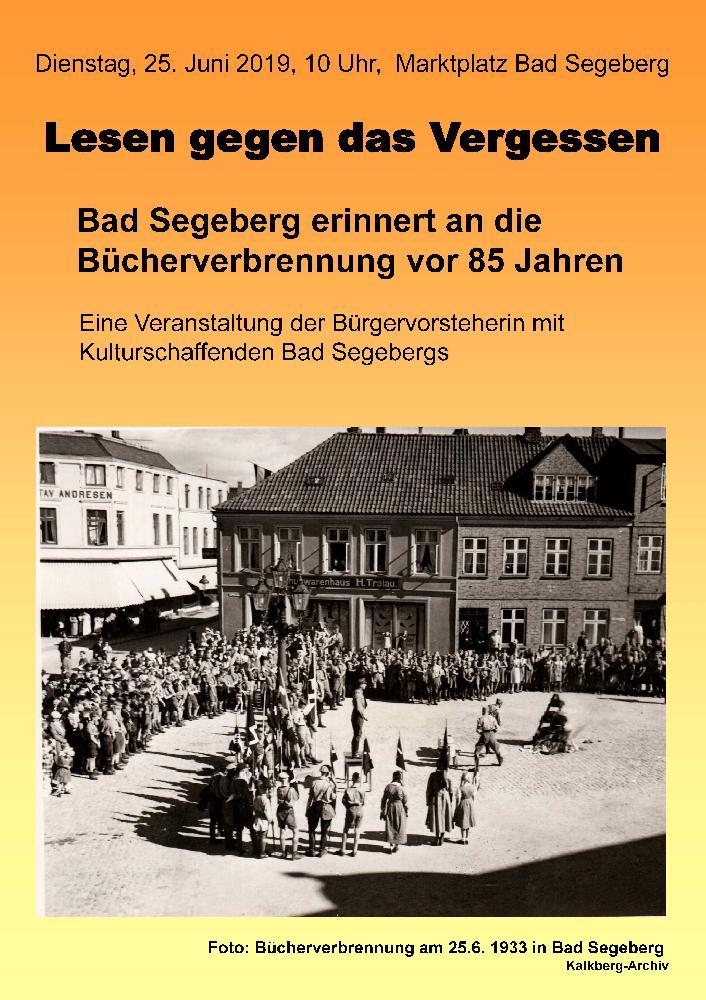 Plakat Lesen gegen das Vergessen  2019 - Erinnerung an Bücherverbrennung 1933.jpg