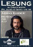 Abbas Khider im Druckwerk