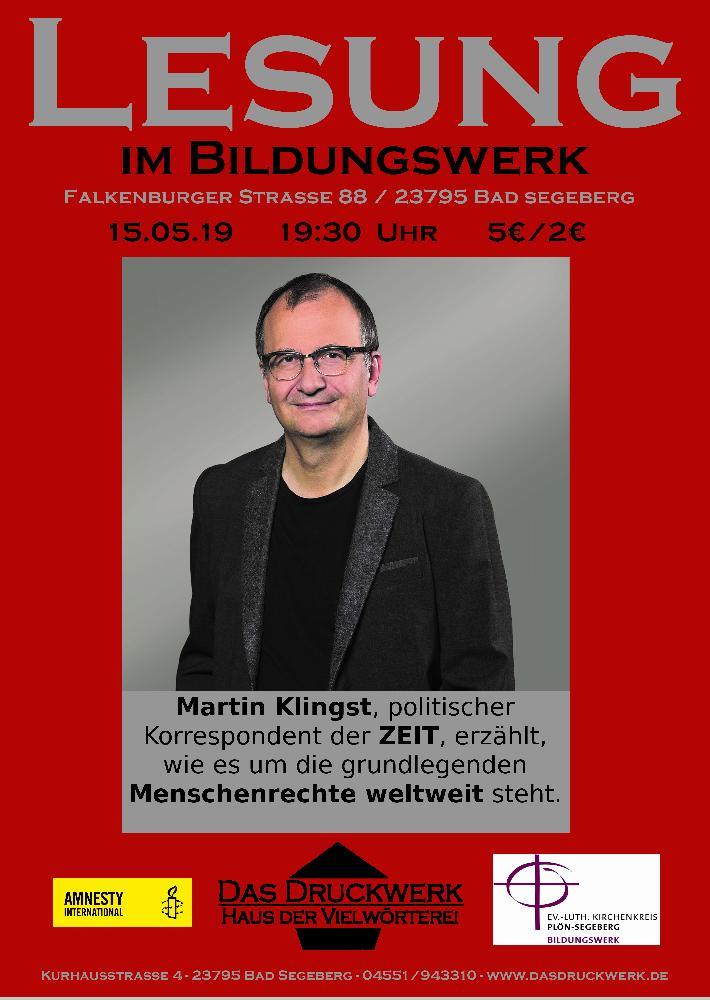 Martin Klingst im Bildungswerk