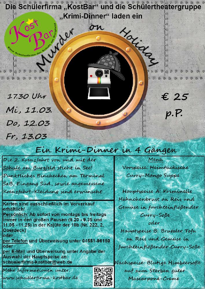 Krimi-Dinner Plakat