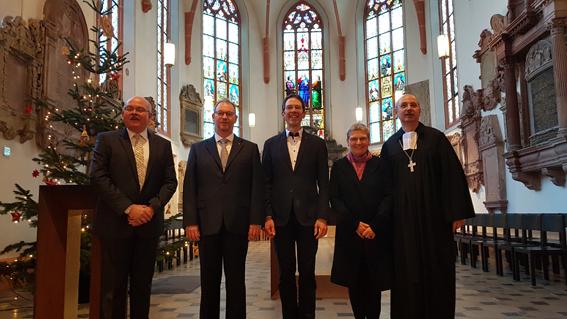 M. Mautner, C. Klomp, A. Plagge, S. Labsch, M. Kreplin nach dem Gottesdienst