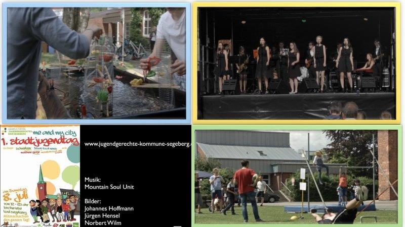 Stadtjugendtag 8. Juli 2017 Collage/Kruse/ des Films von Johannes Hoffmann