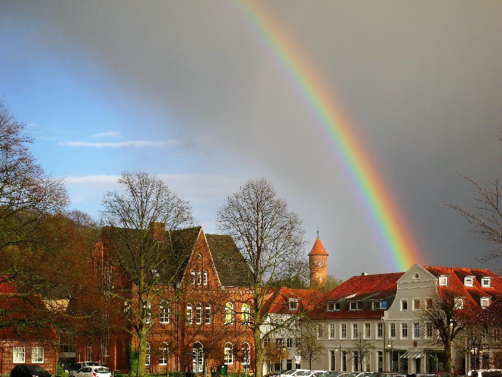 Regenbogen über Bad Segeberg Matthias Voß