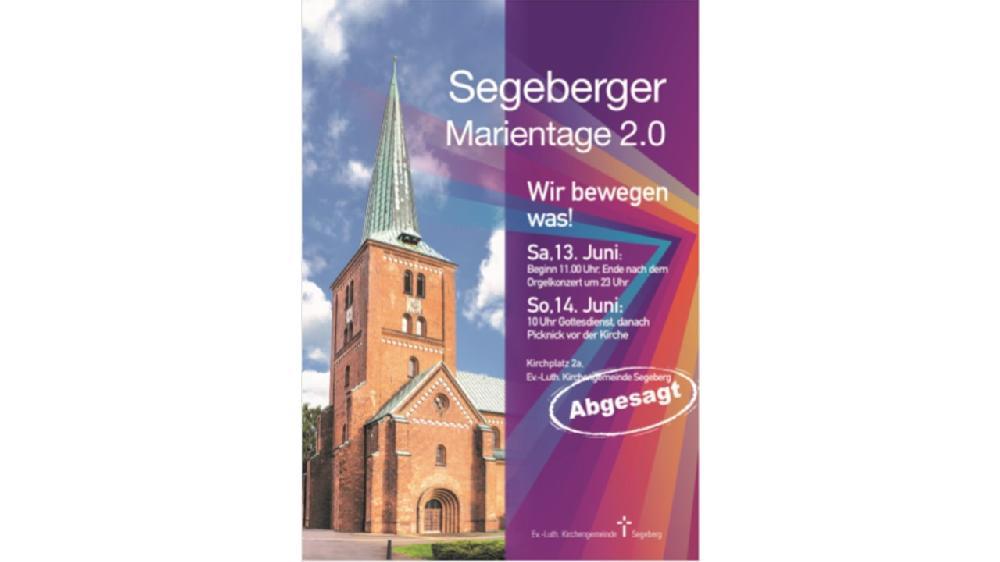 Bildmontage Plakat Marientage mit Absage
