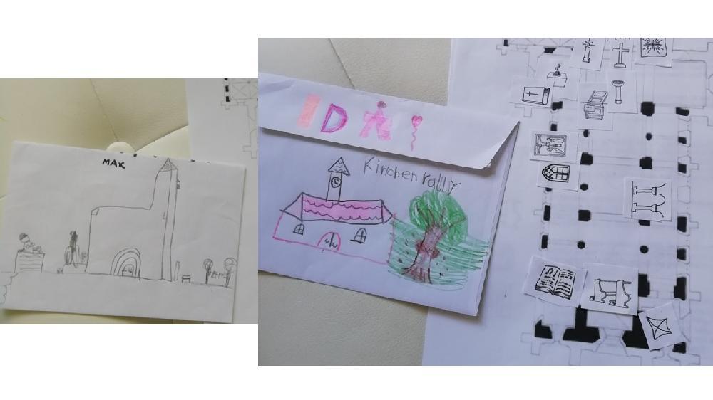 Kinder entdecken die Marienkirche Kinderzeichnungen Mai 2020 Ida und Max.jpg
