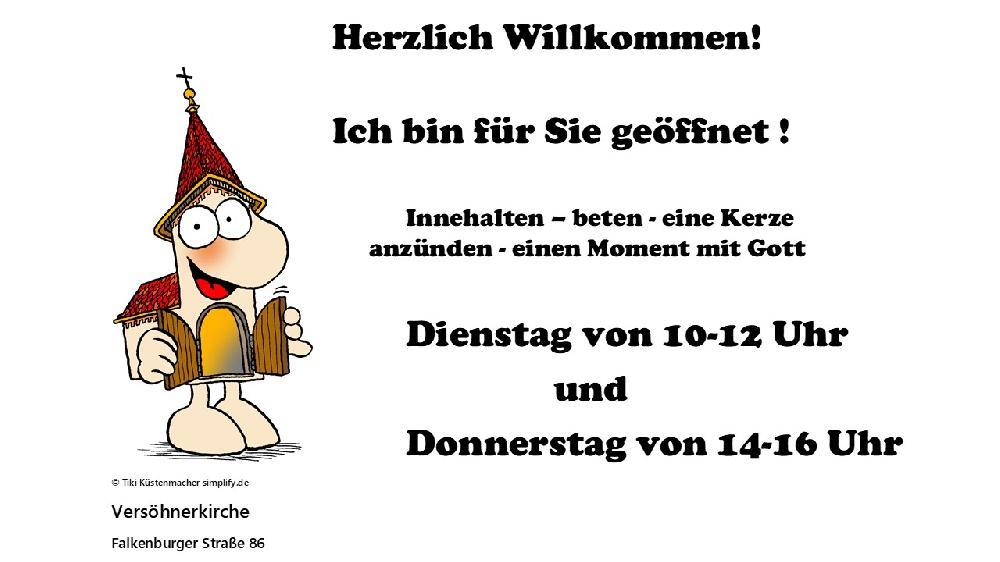 Plakat offene Versöhnerkirche
