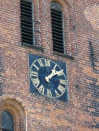 Turmuhr nach der Restaurierung