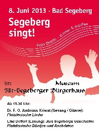 Plakat: Segeberg singt...