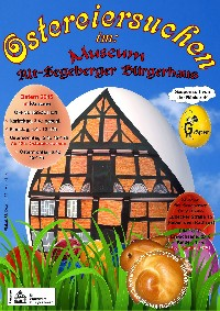 Plakat Ostereiersuche im Museum